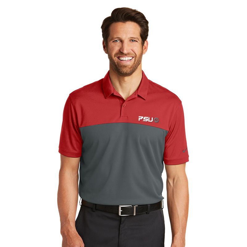 881655 NIKE GOLF Colourblock Micro Pique Branded Polos