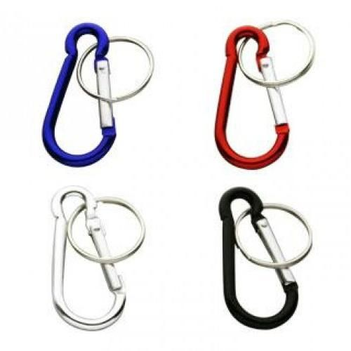 CB01 Figure 8 Carabiner Keyrings (48mm) - Only For Sale With Other Items