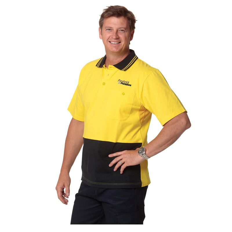 SW35 100% Cotton Personalised Hi Vis Polo Shirts
