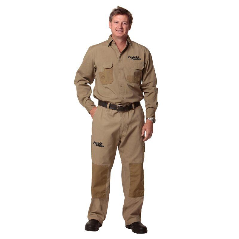 WP17 Premium cordura Canvas Logo Work Pants - Stout