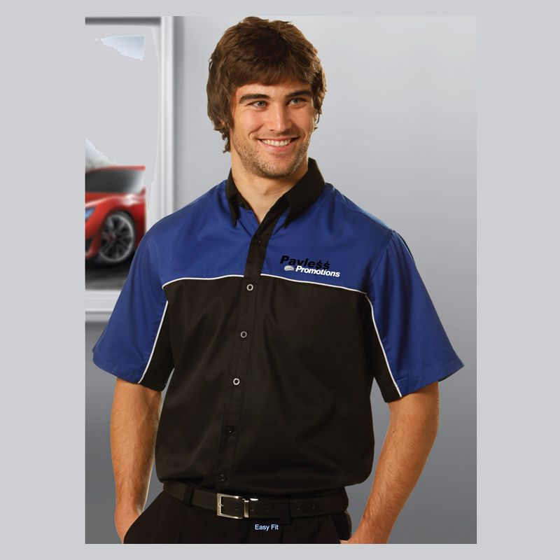 BS11 Racer Embroidered Button-Up Shirts
