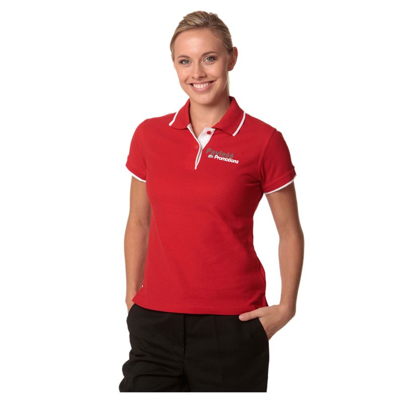 PS48A Ladies Liberty Poly/Cotton Branded Polo Shirts