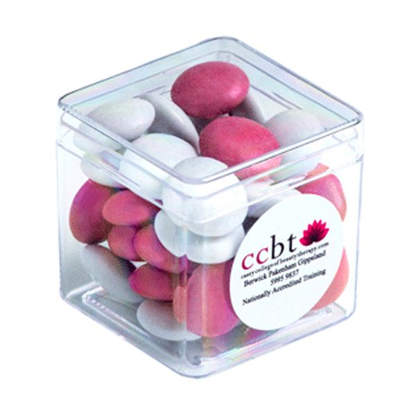CC013B1H Smarties Look-Alike (Mixed Colours) Filled Hard Branded Cubes - 60g