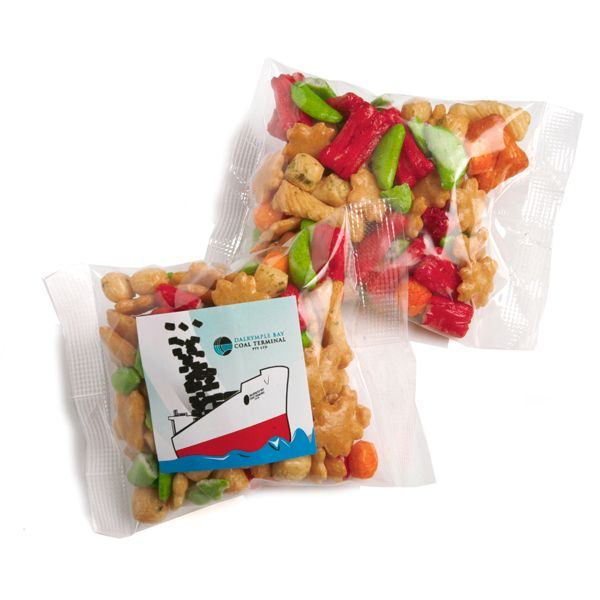 CC050M2 Rice Cracker Filled Logo Lolly Bags - 50g