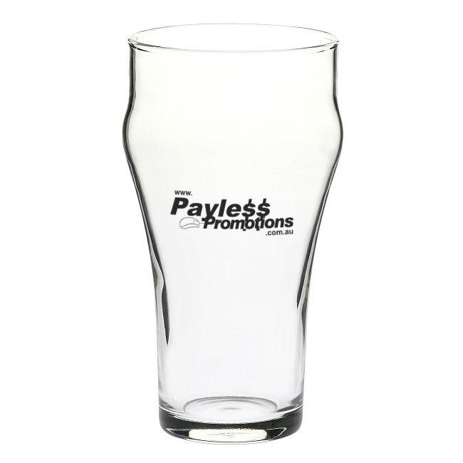 GLBG130159 390ml Bell Soda Branded Beer Glasses