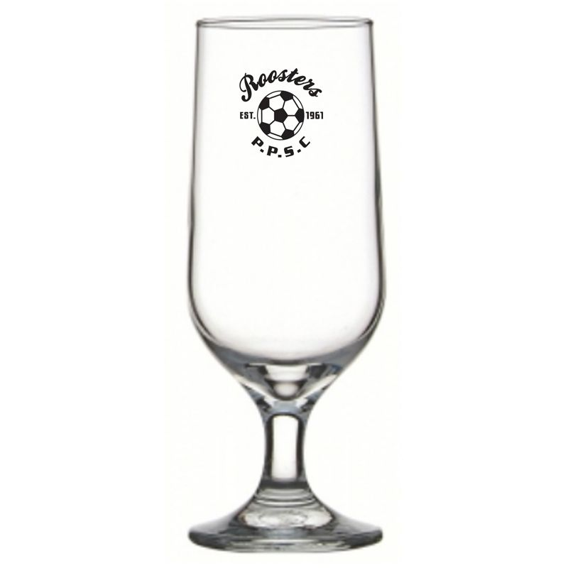 GLFB744882 345ml Classic Footed Branded Beer Glasses
