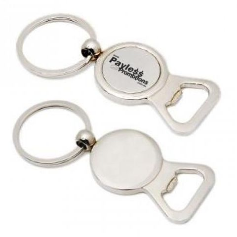 K18 Circular Alloy Personalised Bottle Opener Keyrings With Gift Box