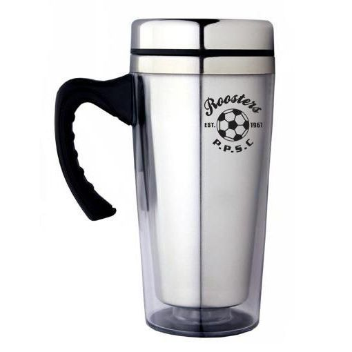 M05 350ml Ergo Promotional Plastic Travel Mugs With Stainless Steel Inner Wall