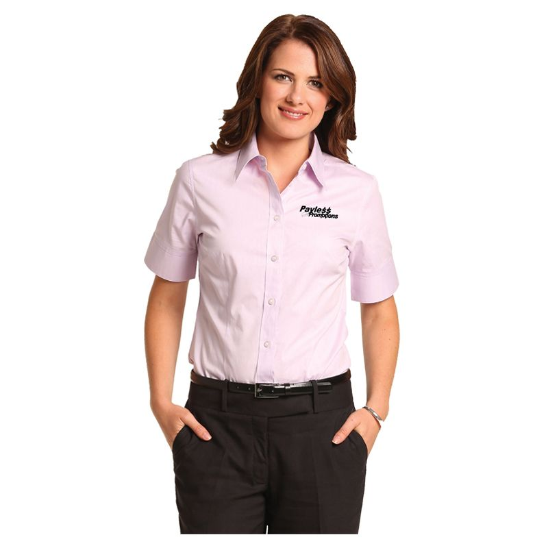 M8040S Ladies Oxford Embroidered Business Shirts - Benchmark Range