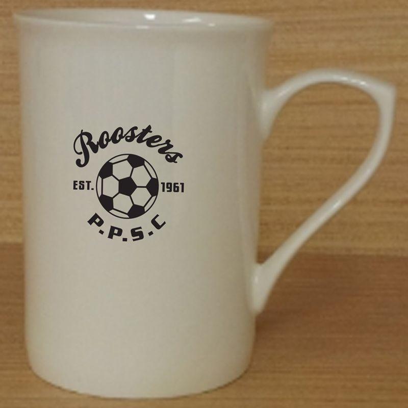 MGB002W 280ml Ascot Custom Bone China Coffee Mugs