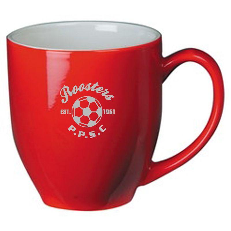 MGJC2154R 290ml Red/White Broadway Logo Coffee Mugs