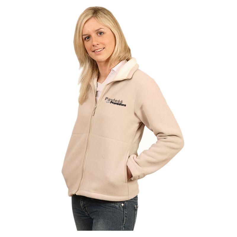 PF16 Ladies Deluxe Sherpa Logo Polar Fleece Jackets
