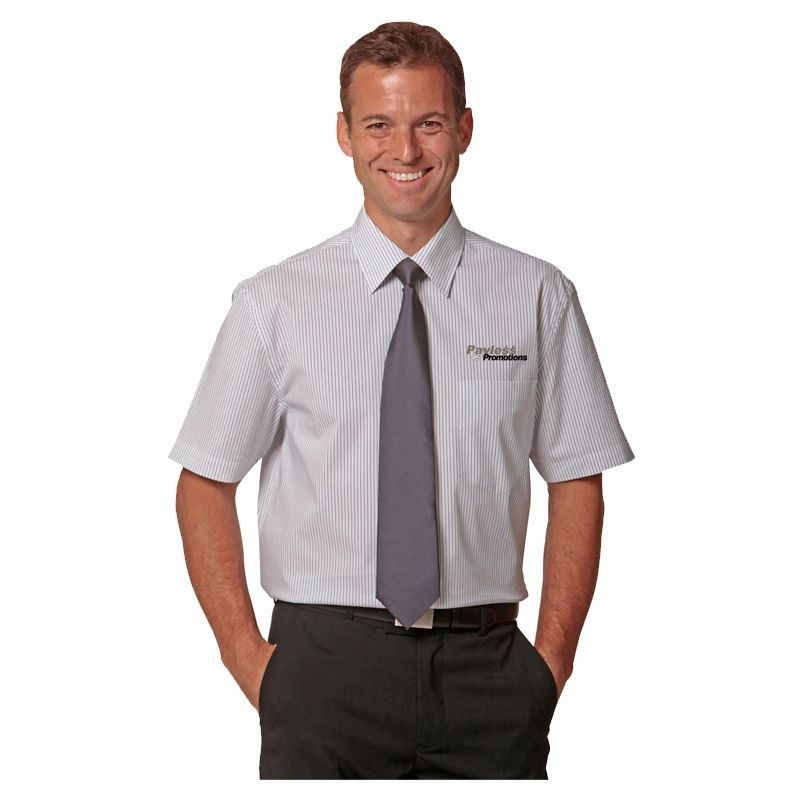 M7200S Ticking Stripe Corporate Shirts With Stretch - Benchmark Range