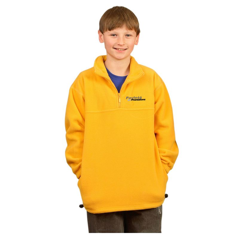 PF11 Kids Half Zip Customised Fleecy Jumpers
