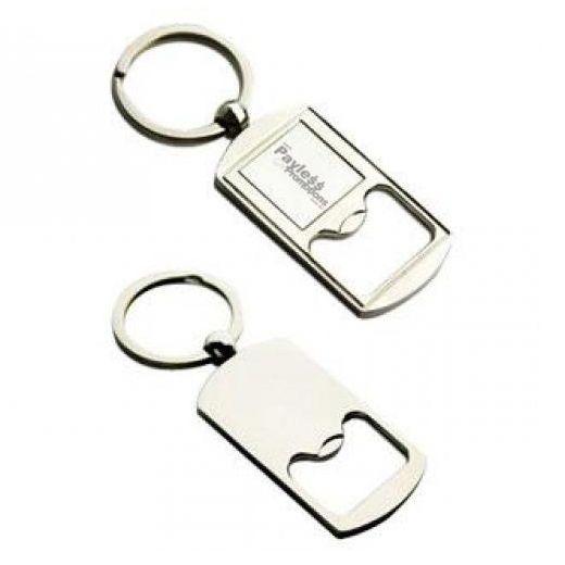 K27 Rectangular Alloy Promotional Bottle Opener Keyrings With Gift Box