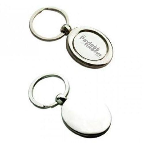 K28 Oval Shaped Promotional Metal Key Rings With Gift Box