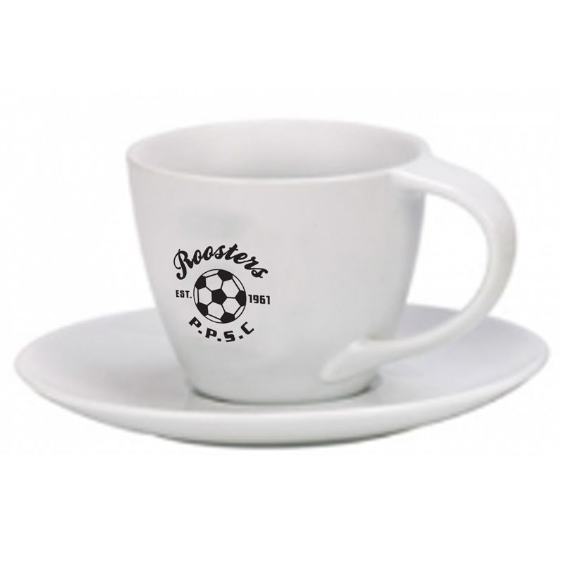 CRLYNM200W Branded 200ml Lynmouth Hospitality Cappucino Coffee Cup & Saucer Set