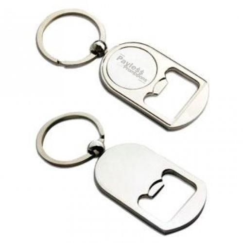 K61 Temple Alloy Promotional Bottle Opener Keyrings With Gift Box