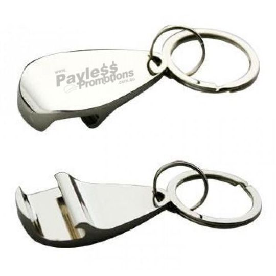 K63 Gloss Teardrop Alloy Promotional Bottle Opener Keyrings With Gift Box