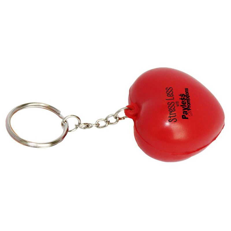 S35 Heart Red Personalised Keyring Stress Balls