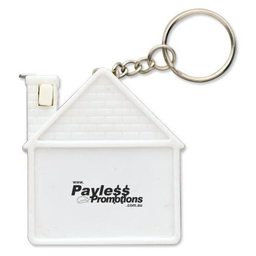 T44 1 Metre House Keyring Printed Measuring Tape