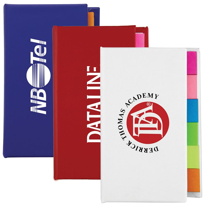 T954 Hard Cover Custom Post-It Note & Flag Sets Strip Book
