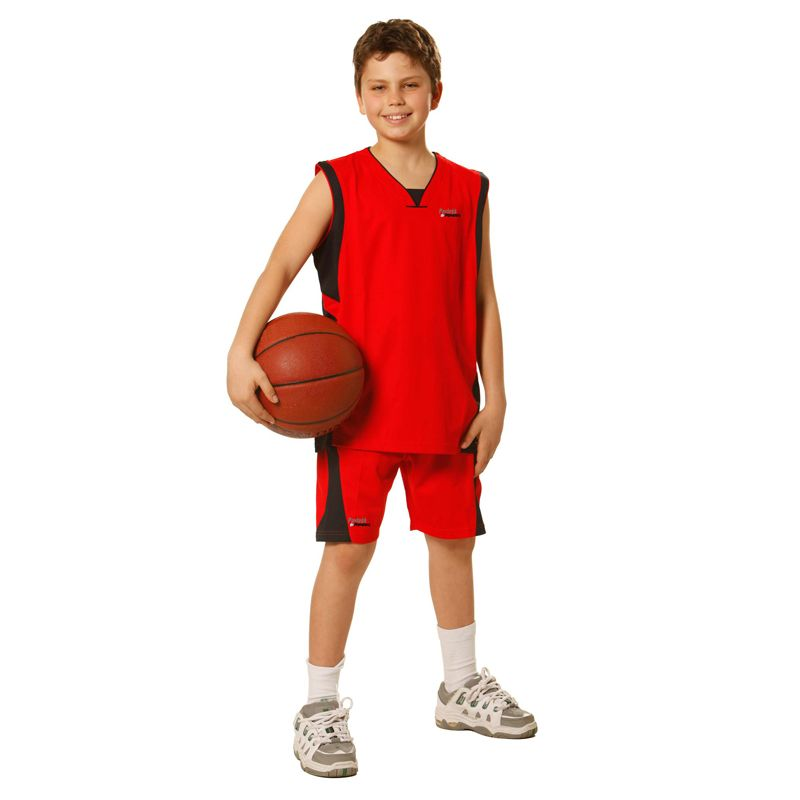 SS23K Kids Slam Dunk CoolDry Contrast Colour Basketball Team Shorts