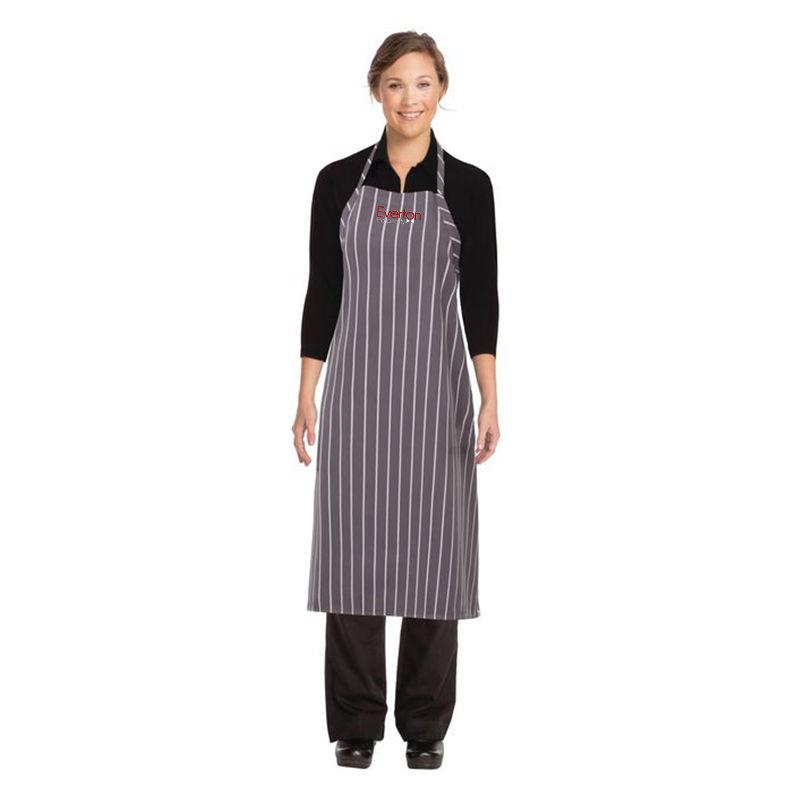 A100 Chef Works English Chalkstripe Custom Aprons