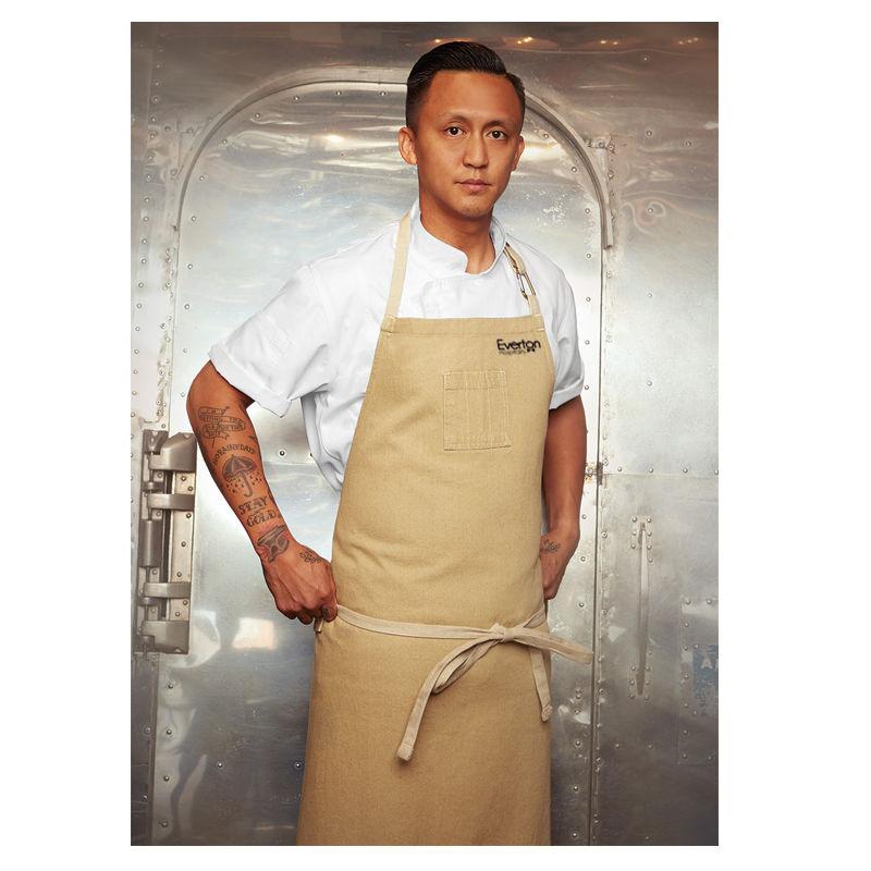 ABCCD006 Chef Works Austin Denim Large Bib Branded Aprons