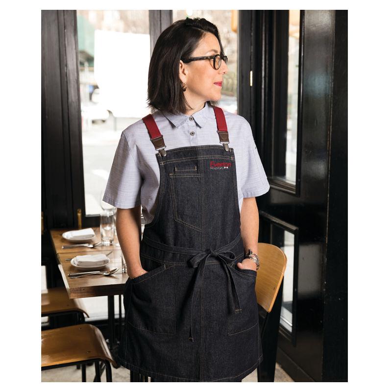 ABS01 Chef Works Berkeley Bib Cafe Aprons