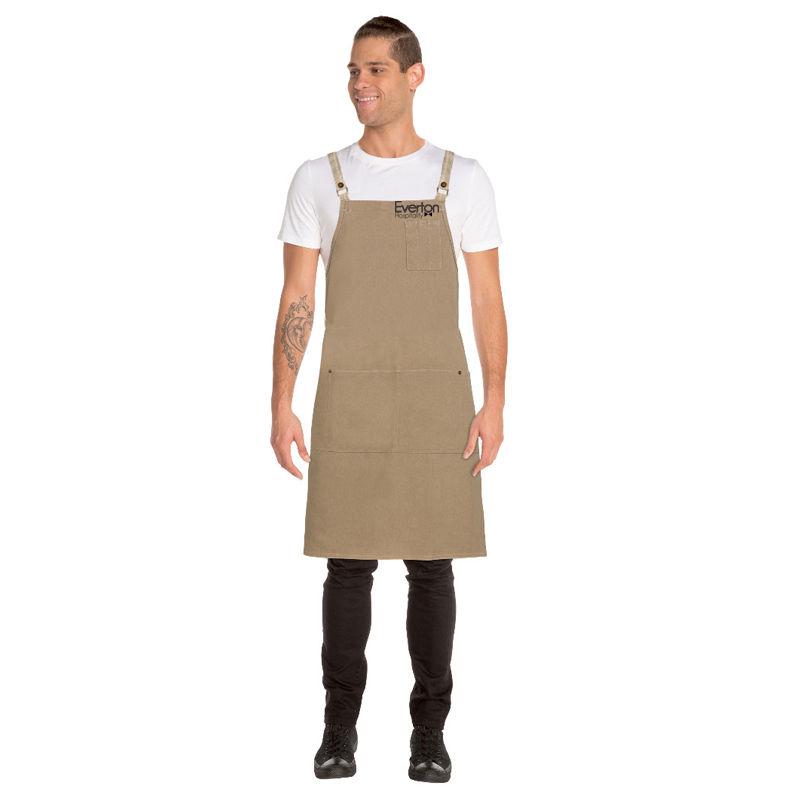ACRS056 Chef Works Austin Denim Cross-Back Cafe Aprons