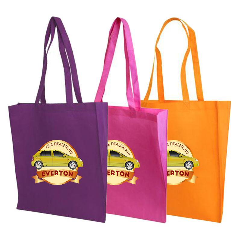 B02 V Gusset Branded Tote Bags - (38cm x 42.5cm x 9.5cm)