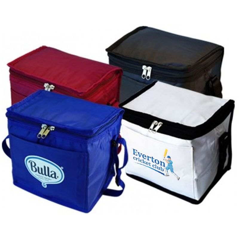 B24 7 Litre (9 Can) Small Printed Cooler Bags With Pocket