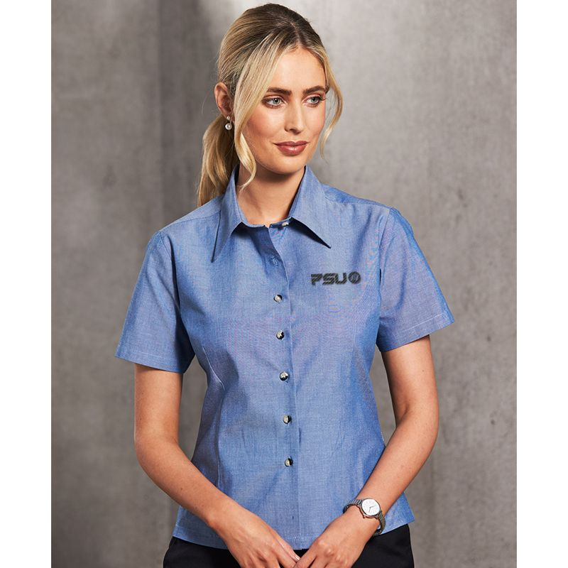 BS05 Ladies Chambray 'Wash 'n' Wear' Embroidered Corporate Shirts