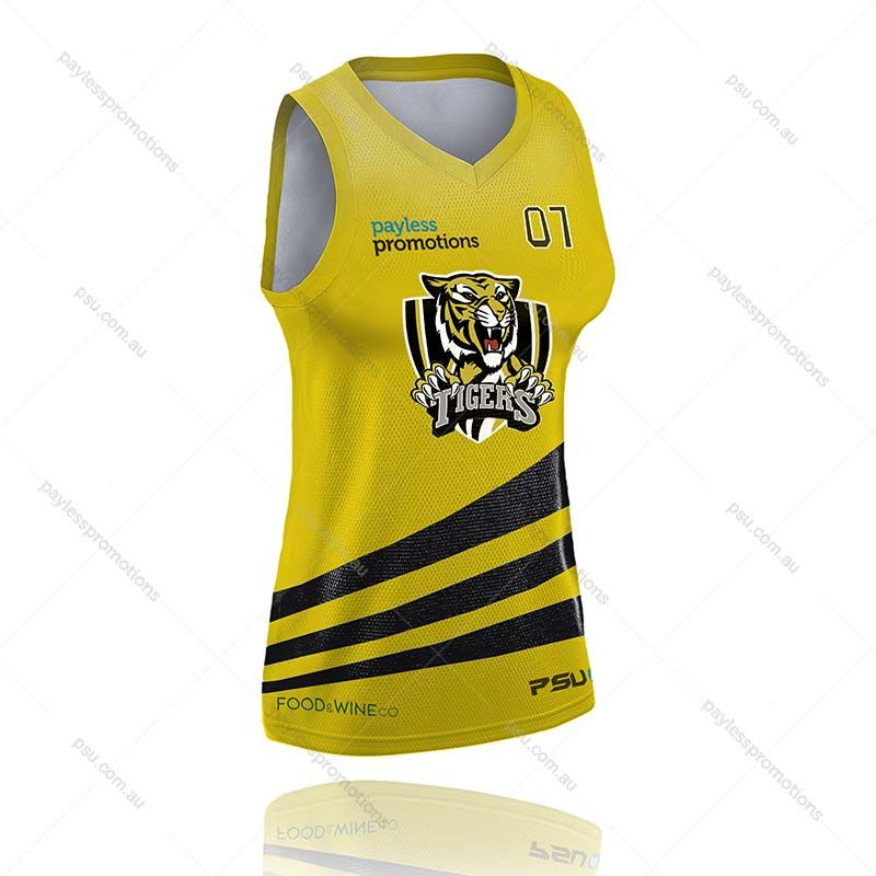 BS3-L Ladies Full-Custom Sublimation Muscle-Cut Basketball Tops - S Series