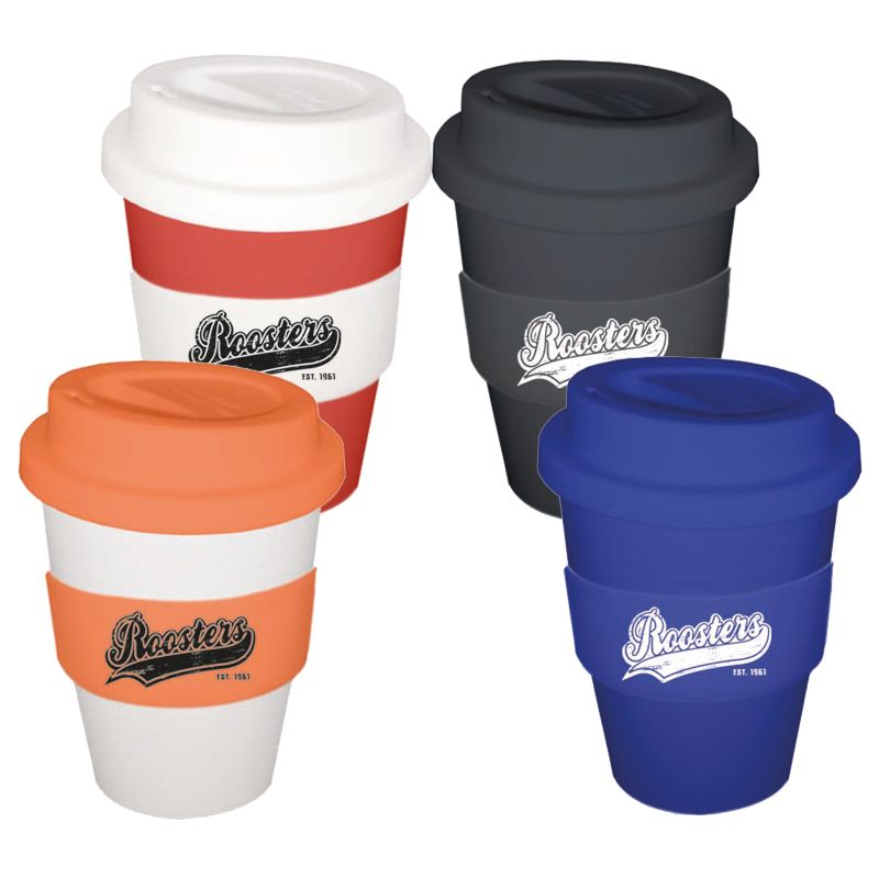 CC350SS 350ml Promotional Carry Cups With Soft Silicon Lid
