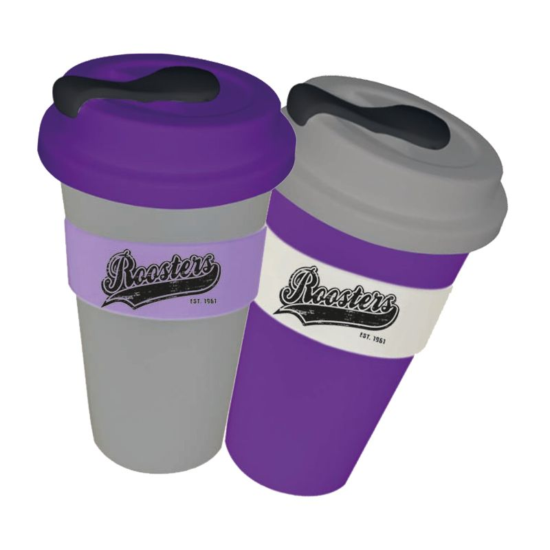 CC450SLSP-M Metallic 450ml Promotional Carry Cups With Solid Lid and Soft Silicon Seal Plug