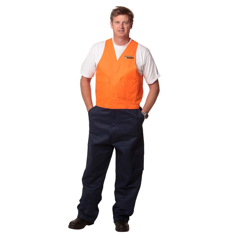 SW201 Action Back Personalised Workwear Overalls (Regular)