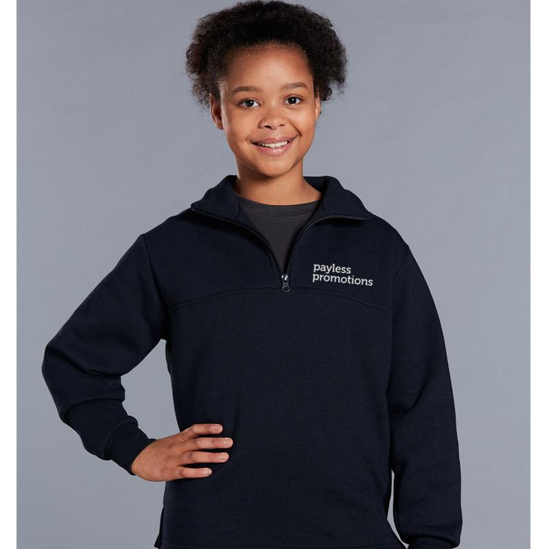 FL02K Falcon 1/2 Zip American Style Fleece Customised Sweat Shirts