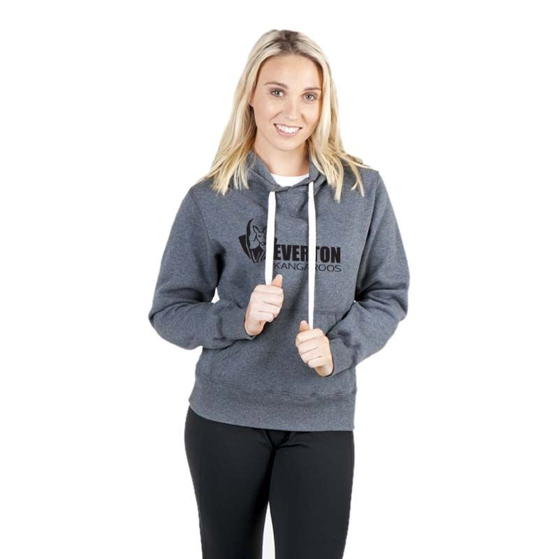 FP88UNM Ladies Heavy Cotton Rich Hoodies With Fat Drawstring - Marl