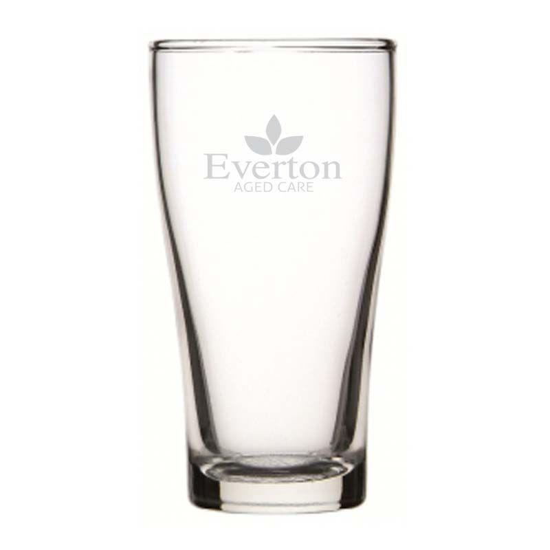 GLBG240012 285ml Crowntuff Conical Logo Beer Glasses