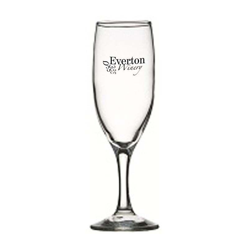 GLWG744019 190ml Crysta III Flute Printed Wine Glasses