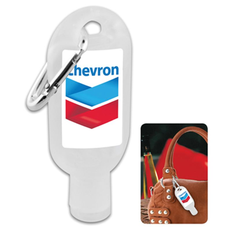 H304 30ml Squeeze Printed Hand Sanitiser With Carabiner