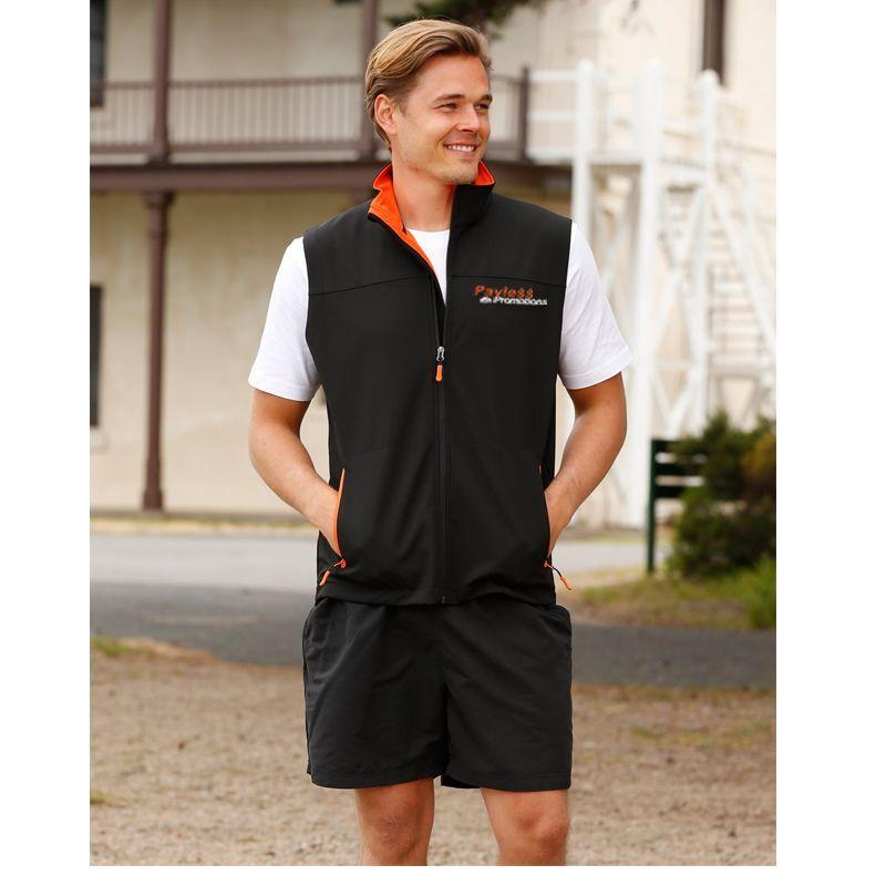 JK45 Rosewall Softshell Logo Fashion Vests With Stretch