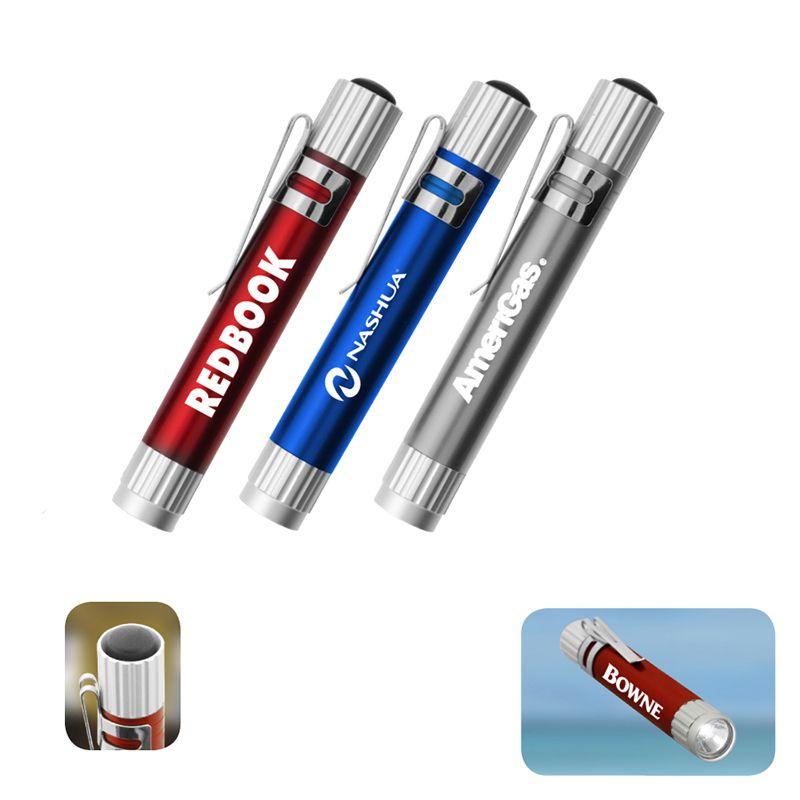 L285 Aluminium LED Promotional Flashlights With Pocket Clip