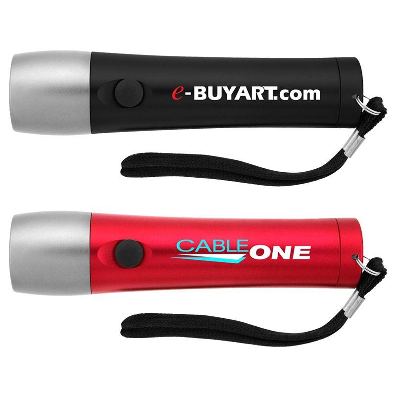 L705 14 LED Aluminium Corporate Flashlights With Wrist Strap
