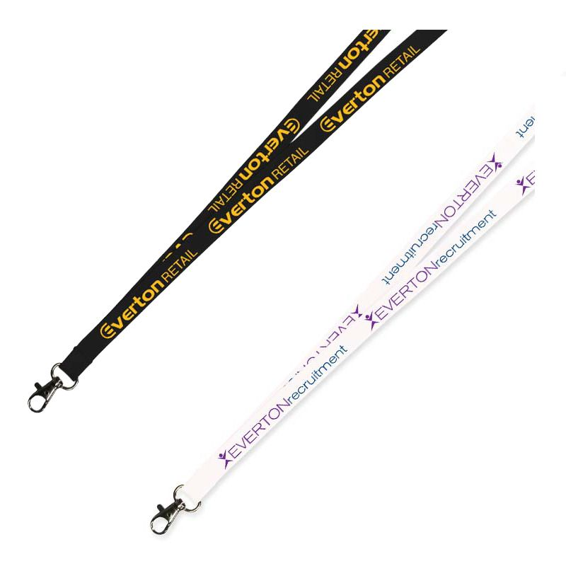 LANNYL12 Printed 12mm Flat Nylon Lanyards With Attachment (Stock Colours)
