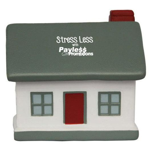 S40 House/Grey Roof Promotional Household Stress Balls