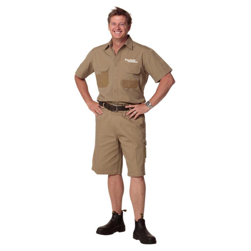 WT05 Premium cordura Short Sleeve Embroidered Work Shirts