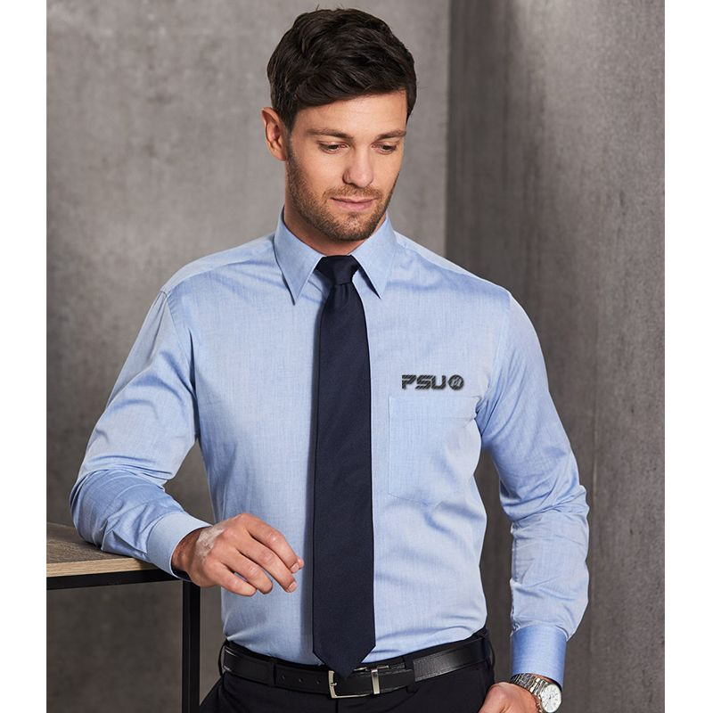 M7012 Fine Chambray Embroidered Corporate Shirts - Benchmark Range